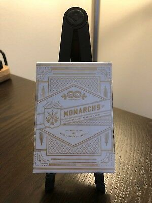 1 Deck White Gold Monarchs V2 Playing Cards Rare New Sealed Theory11