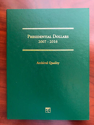 Complete 2007-2016 Set of President Dollar Coins (39) with Archival Display Book