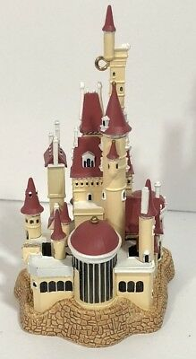 Hallmark Disney Beauty & the Beast Castle in the Forest Light Up Xmas Ornament