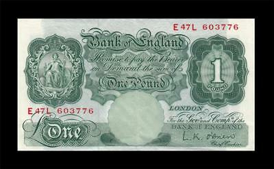 1955-60 BANK OF ENGLAND 1 POUND **Sig. O'Brien** (( aUNC ))