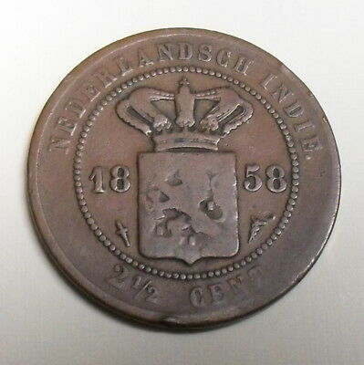 1858 Netherlands East Indies 2-1/2 Cent