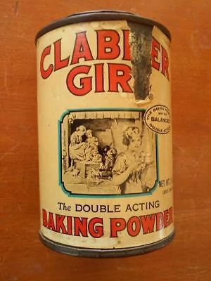 1960's Clabber Girl Baking Powder Tin ~ Beautiful Aged Look !