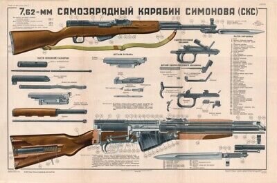 color poster of soviet russian sks 45 carbine simonov cold war rh picclick com sks owners manual download norinco sks owners manual