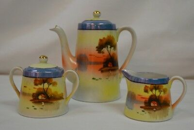 Vintage Mid Century Set  3 pieces Tashiro Shoten Ltd Porcelain