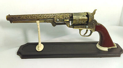 "SMB-110 Decorative Western Revolver with Display Stand 13"" Overall [EBK2-SMB1]"