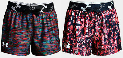 Under Armour Girls UA Kick It Printed Athletic Shorts Running Casual