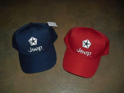 Jeep Lot of 2 hats New MINT RaRe all NEW red and blue two caps MINT