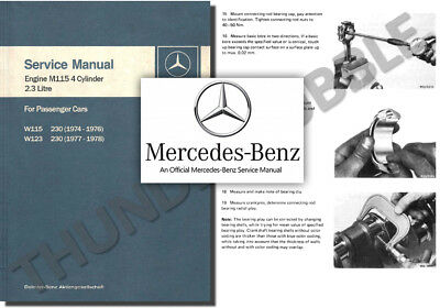 Mercedes M115 ENGINE Service Workshop Repair Manual 230 W115 W123