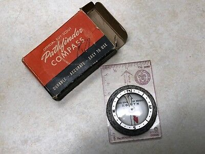 Official Boy Scout Pathfinder Compass in Box