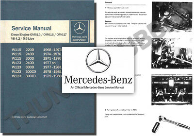 Mercedes 615 616 Diesel Engine Service Workshop Repair Manual 115 W123 220 240 D