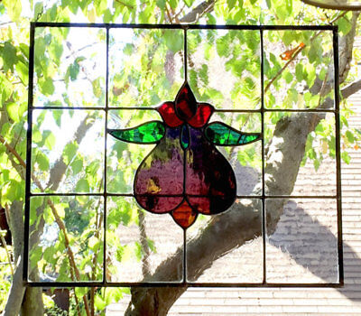 Beautiful Edwardian Leaded Stained Glass Window made with Antique Glass!