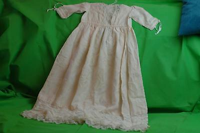 Lovely Antique Handmade Christening Gown Dress Victorian