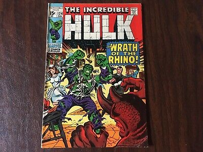 The Incredible Hulk #124 - NO RESERVE AUCTION!!!! Bronze Age Marvel Comics, 1970