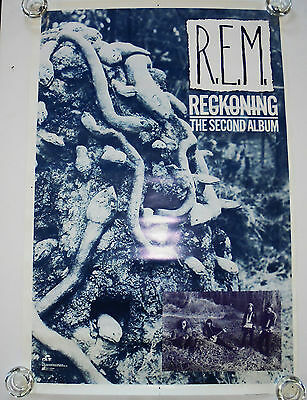 R.e.m.  -   Reckoning  -  Original Rolled Rock Promo Poster (1984)