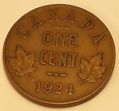 1924 Key Date Canada 1 Cent VF/EF Condition, N211