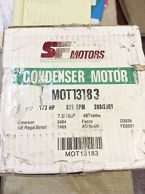 New Sf Motors Mot13183 Condenser Motor  1/3 Hp 825 Rpm 208-230 Volts Best Price