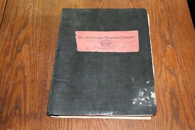 1940s The Cleveland Tractor Company Cletrac Service Instructions