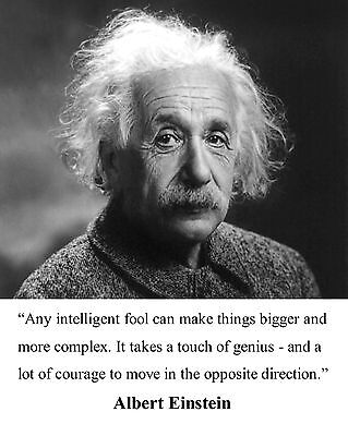 Albert Einstein Famous Quote Science Motivational 8 x 10 Photo Picture #b1