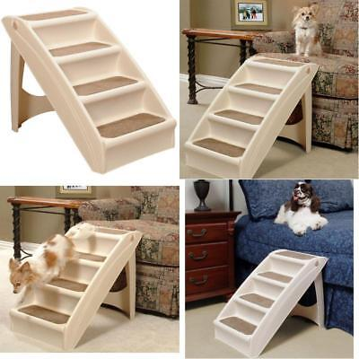 Pup 4 Step Plus Pet Steps Ramp Small Mini Dog Cat Pets Stairs For Tall High Bed
