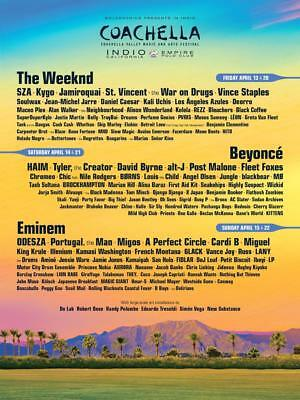 Coachella Music Festival 2018 Tickets ( Wristband plus CAR CAMPING - Weekend 2 )