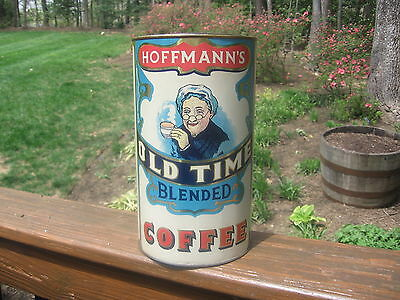 Antique Hoffman's Old Time Coffee Advertising Tin