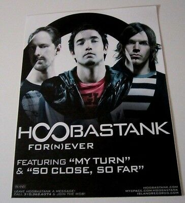 Hoobastank Promo For(n)ever Outdoor Display Sticker glass window door