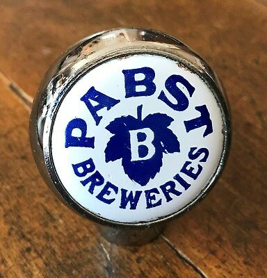 Pabst Breweries (Chrome) Ball Knob in Good to VG Condition.