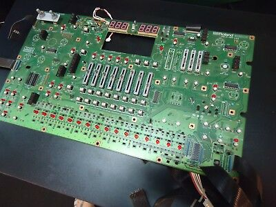 Roland Mc-505 Synthesizer Slider Pot Switch Led Display Board Spare Part