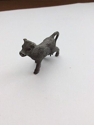 "Spoontiques Pewter Figurine Mini 1 1/6"" Tall, Cow Walking ..... Cute"