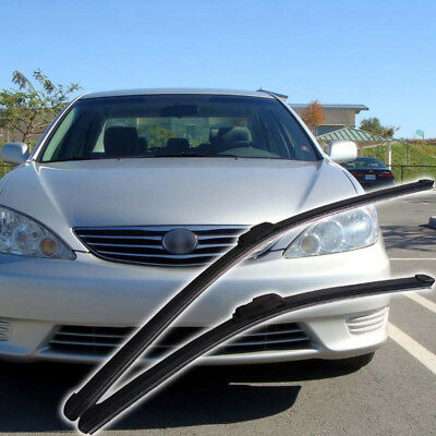 """Frameless Wiper Blades Front Windshield for Toyota Camry 02-06 J Hook 19+24"""""""