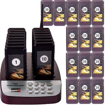 Wireless Restaurant Guest Calling Paging Queuing System 30*Coaster Pager+keypad