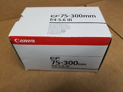 Canon EF 75-300mm f/4-5.6 III Telephoto Zoom Lens for Canon SLR Cameras USA SHIP