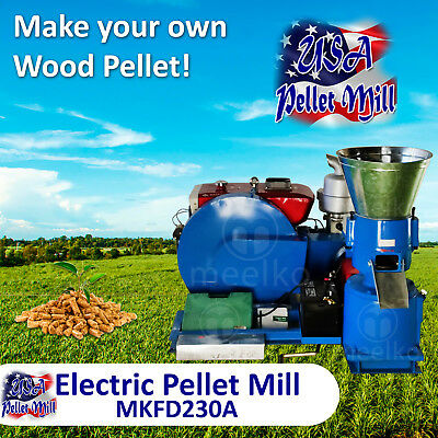 Diesel Pellet Mill For Wood - MKFD230A - Free Shipping