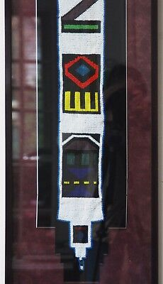 """Ndebele wedding veil museum quality fully beaded mounted framed multi colr 44.5"""""""