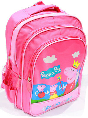 New Large Backpack Girl Peppa-Pig School Bag Kids Preschool Daycare Picnic Xmas