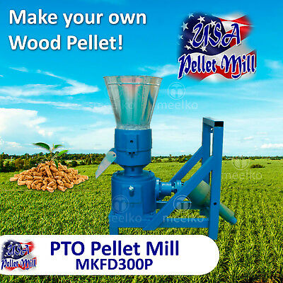 PTO Pellet Mill For Wood - MKFD300P - Free Shipping