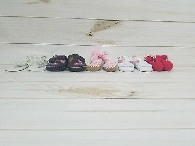 lot of 5 pairs of infant girl shoes