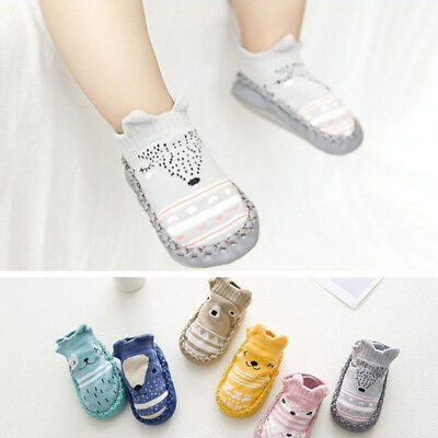 Baby Kids Cotton Cartoon Shoes Toddler Anti-slip Boots Slipper Socks prewalker T