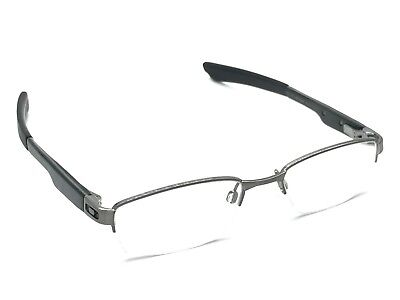 Oakley Double Tap OX3123-0451 Brushed Chrome Half-Rimless Eyeglasses 51-18 140