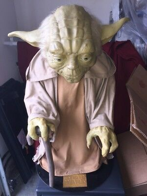 "Star Wars the Phantom Menace. Yoda Illusive Concepts Life Size ""Statue"""
