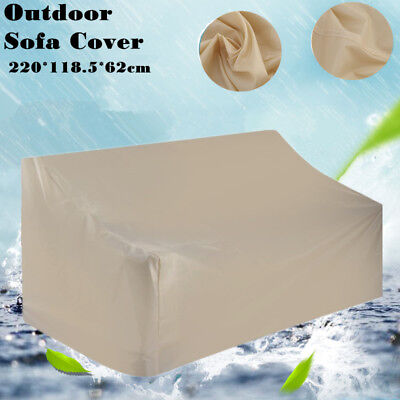 Outdoor Waterproof High Back 3-seats Sofa Cover Furniture Patio 220*118.5*62 SV