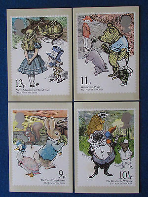 Post Office Postcards - Set of 4 - 1979 - United Nations Year of the Child