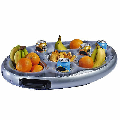 Beau Inflatable Pool Bar Floating Hot Tub For Drinks Pizza Snacks With Side Tray