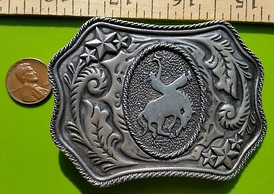 Vintage Bucking Bronco Belt Buckle Cowboy Cowgirl Rodeo Horse