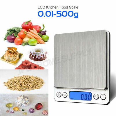 500g/0.01g Kitchen Food Scale Pocket Digital LCD Electronic Weight Postal