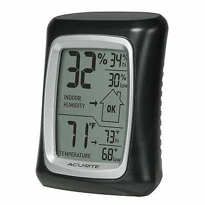 Mini Digital LCD Indoor Thermometer Hygrometer Temperature Humidity Gauge Black