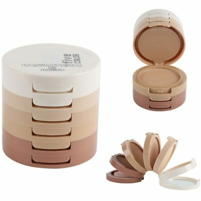 AU Mineral Makeup Set Face Pressed Powder Palette Contour Shading Concealer Puff