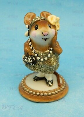 ZELDA by Wee Forest Folk, WFF# M-171, GOLD GLITTER w/CREAM, Retired 1999