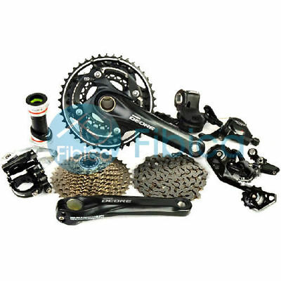 New Shimano Deore M610 M615 Shadow Plus Lockout Groupset Group set 3x10-sp
