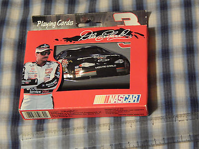 Dale Earnhardt Playing Cards w/ Tin + Kick in the Asphalt(CD) Winston) NASCAR)